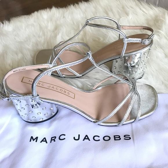 8f5c7430647 Marc Jacobs Sheena Metallic T-Strap Sandals